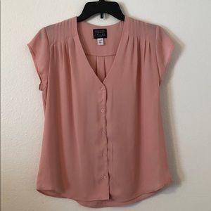 Pink Dress Blouse Shell